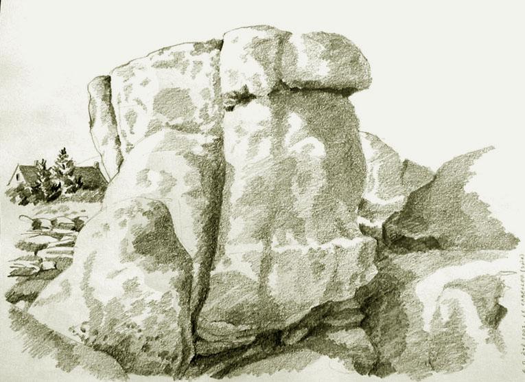 Dessin et aquarelle2 - Rocher dessin ...